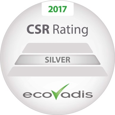 2017 CSR Rating SILVER from Ecovadis